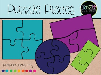 Puzzle Pieces - Digital Clipart