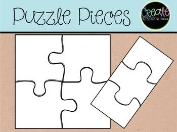 Puzzle Pieces {Freebie} - Digital Clipart