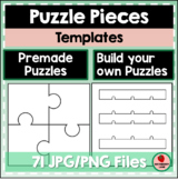 Puzzle Pieces Templates - Long whole and split pieces