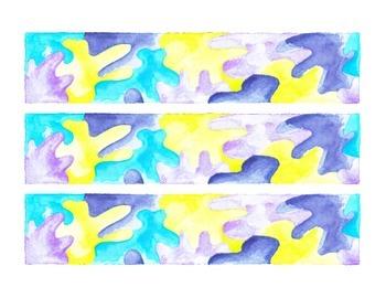 Puzzle Pieces Watercolor Bulletin Board Border Printable F