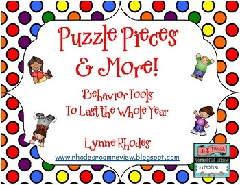 Puzzle Pieces and More!  Behavior Tools to Last the Whole Year