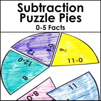 Subtraction Games or Math Centers | Subtracting 0-5 Facts BUNDLE