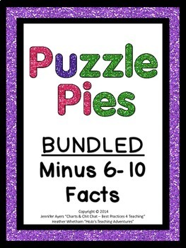Subtraction Games or Math Centers | Subtracting 6-10 Facts BUNDLE {PP}