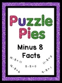 Puzzle Pies - Subtracting by 8 Math Facts for Centers - {PP} - Dollar Deals