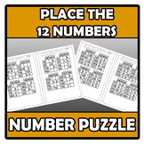 Number puzzle - Place the 12 numbers