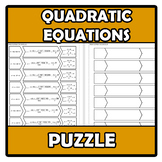 Puzzle - Quadratic equations - Ecuaciones de 2º grado