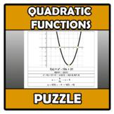 Puzzle - Quadratic functions - Funciones cuadráticas