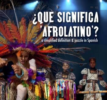 Puzzle: Qué significa afrolatino - Black History Month Wordoku