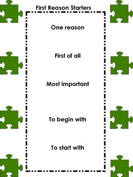 Puzzle Reason Starters