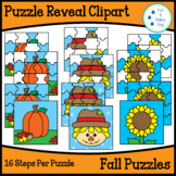 Puzzle Reveal Clipart-Fall