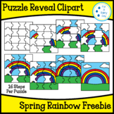 Puzzle Reveal Clipart-Spring Rainbow Freebie