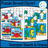 Puzzle Reveal Clipart-Summer Beach & Ocean