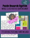 Puzzle Rewards System: Whole Class Positive Reinforcement