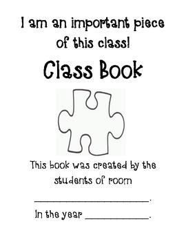 Puzzle Self Portrait Class Book