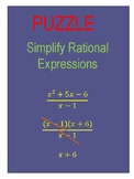 Puzzle Simplify Rational Expressions