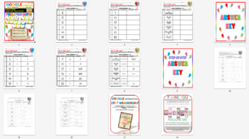 Puzzle Simplifying Complex Fractions {3 LEVELS} (Google Interactive & Hard Copy)