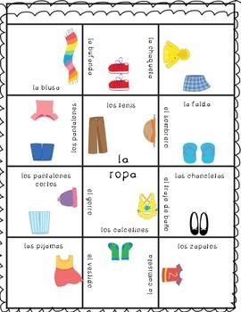 Puzzle-Spanish clothes