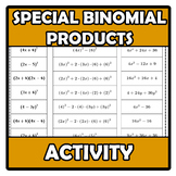Puzzle - Special binomial products - Identidades notables