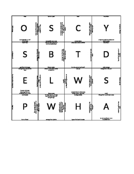 Puzzle Square Review Game