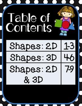 Puzzle Strips: 2D & 3D Shapes