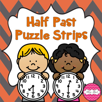 Time Puzzle Strips- Half Past