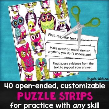 Puzzle Strips: Open-ended customizable activities for practicing ANY skill!