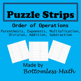 Puzzle Strips: Order of Operations PEMDAS PACK
