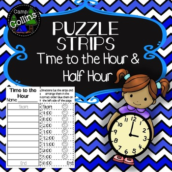 Puzzle Strips: Time to the Hour & Half Hour