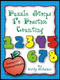 Puzzle Strips for Counting - Great for Kindergarten Color and Black and White