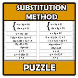 Puzzle - Substitution method (system of equations) - Métod