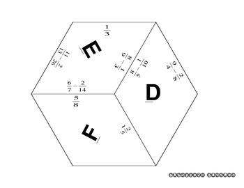 Puzzle - Subtract Fractions with Unlike Denominators - PP