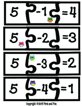 Puzzle Subtraction Pack Envision MAFS & Common Core Freebie