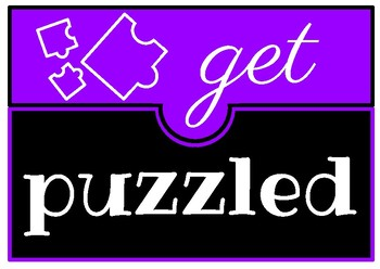 Puzzle Table Sign - Get Puzzled