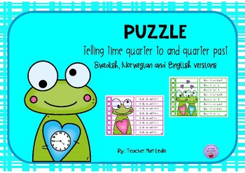 Puzzle Telling time quarter to and quarter past