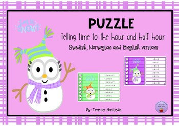 Puzzle Telling time to the hour and half hour