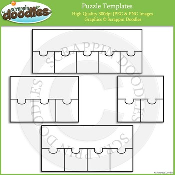 Puzzle Templates - 1 Top Multiple Bottoms