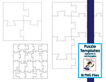 Puzzle Templates - 18 PNG Files