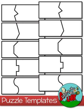 Puzzle Templates - 2 Piece by A Sketchy Guy | Teachers Pay Teachers