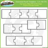 Puzzle Templates - Horizontal 2, 3, 4 & 5 Pieces