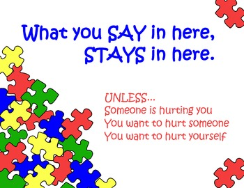 Puzzle Theme Poster: What you say in here stays in here