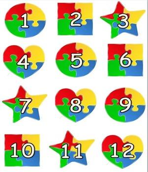 Puzzle Themed Calendar Set