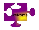 Puzzle Welcome Sign