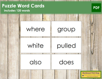Puzzle Word Cards