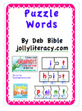 Puzzle Words for Word Work and Blending (Supplements Jolly