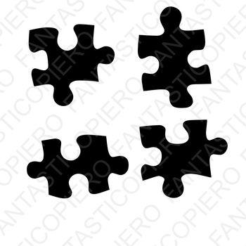 Puzzle file SVG per Silhouette Cameo e Cricut.
