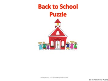 Puzzle for Back to School