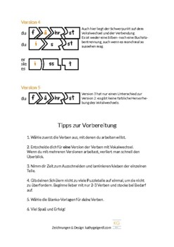 Puzzle for German regular verbs, level A1