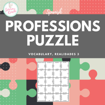 Puzzle for Professions & Volunteerism (Realidades 3, Chapter 5)