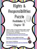 Spanish Rights & Responsibilities Vocabulary (Realidades 3