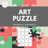 Puzzle for Spanish Art Vocabulary (Realidades 3, Chapter 2)